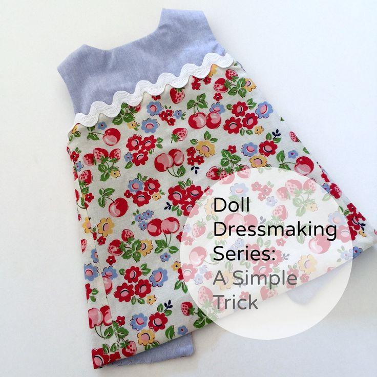 There are a lot of easy ways to change up a doll dress. This trick can be  used in a number of sewing situations, but I'll start with showing you how  on the reversible dress. After you see how easy it is, you may want to try  it with sleeves or a collar.  You will see this is an excellent way to use scraps of fabric.  Start with two pieces of fabric that you like together.  Sew the two pieces length wise. Your goal is to create a piece of fabric  large enough to cut the outside of the…