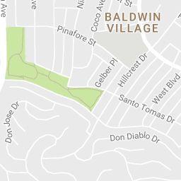 West Adams, Los Angeles, California Zip Code Boundary Map (CA)