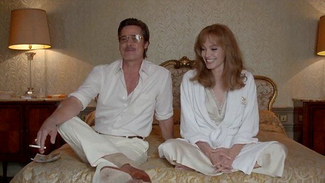 Brad Pitt and Angelina Jolie star in the 'Gimme Shelter' featurette for their film By The Sea that gives fans glimpses of the making of the film.