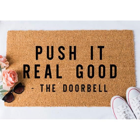 Push It Doormat, Funny Doormat, Doormat Humor, Funny Door
