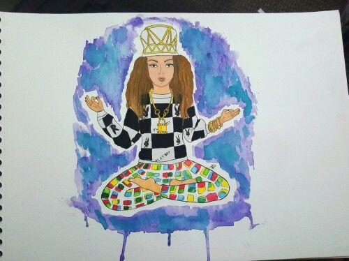 Beyoncé 7/11 Watercolor #illustration #beyonce #711