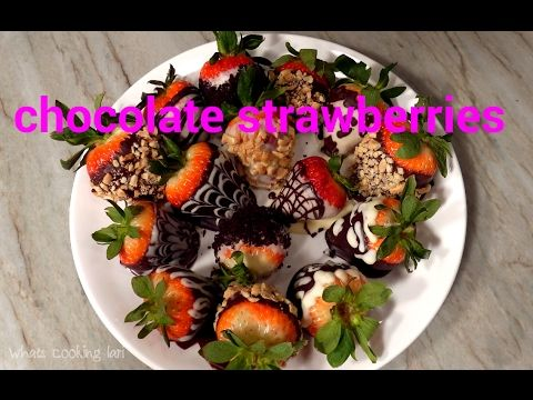 How to make Chocolate Covered Strawberries for Valentine's Day by Whats ...