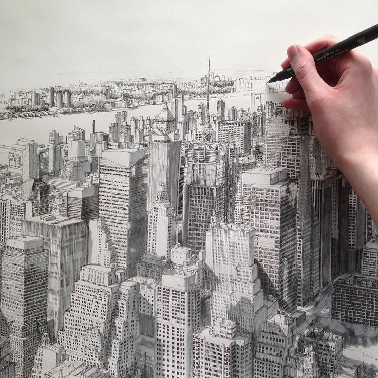 I can't believe I did this 2 years ago... #feelslikeyesterday #art #drawing #pen #sketch #illustration #linedrawing #city #cityscape #architecture #newyork #nyc #manhattan