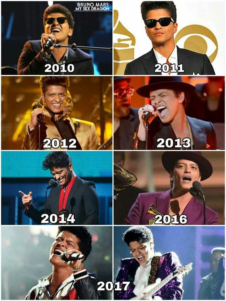 All years. Bruno Mars