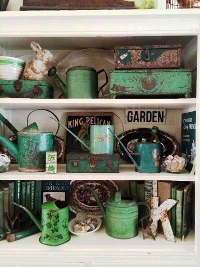 Katrina Lounsbury's jade green garden collectibles