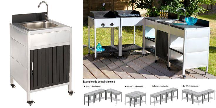 18 best cuisines d 39 exterieur et barbecue images on pinterest barbecue barrel smoker and bbq. Black Bedroom Furniture Sets. Home Design Ideas