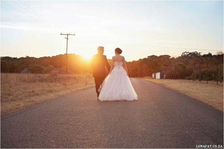 Wedding Photography Wedding sunset photo www.lunafay.co.za