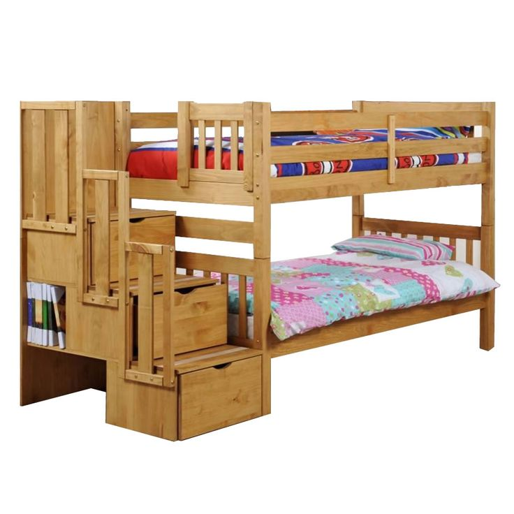 Toddler bunk beds home bunk beds staircase bunk bed for Bunk beds for kids with stairs