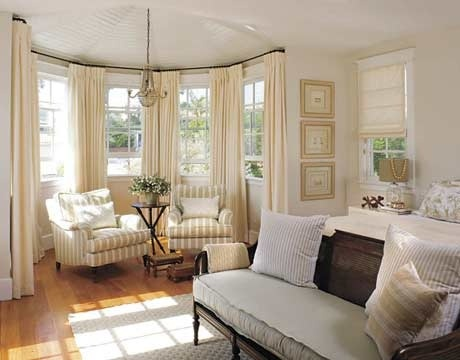 Delicieux Not Design. Bay Window Treatments Rods Mitered In Corners