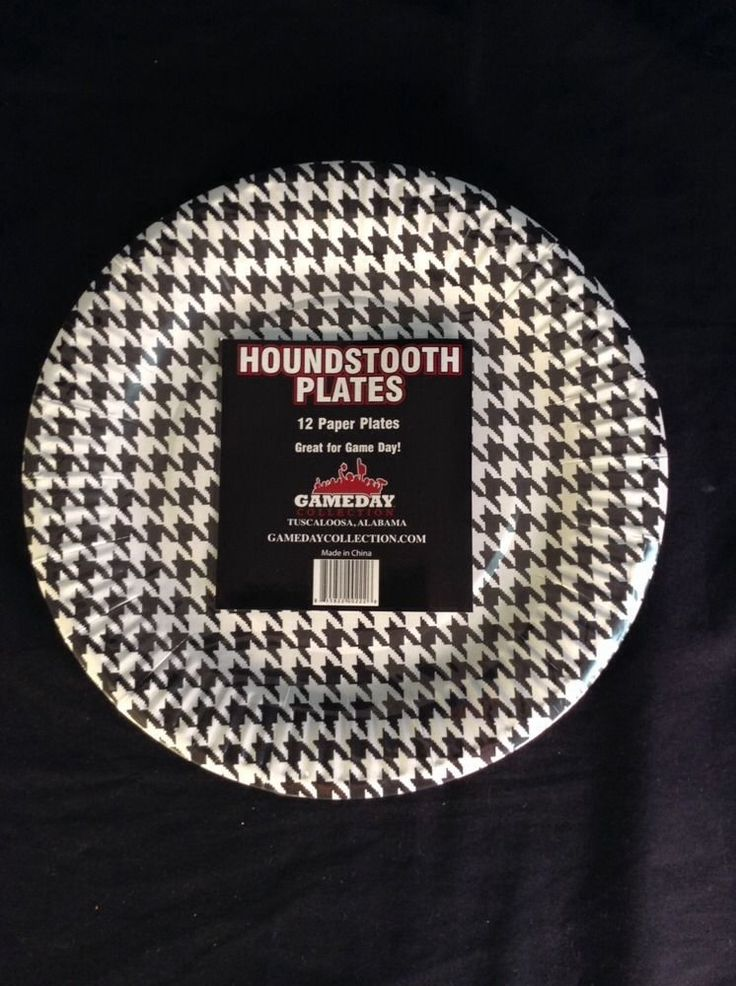 Black and white houndstooth paper party plates 12 pack & 16 best Kiddish / Dinner images on Pinterest | Black and white ...