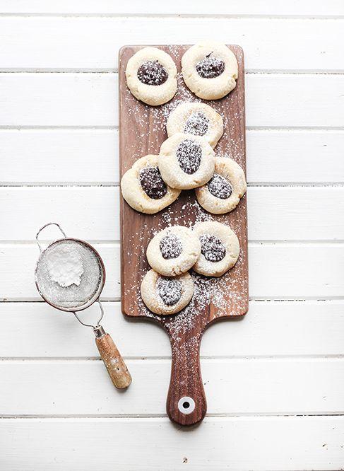 chocolate thumbprint sugar cookies