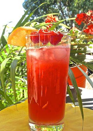 La ginmonade glacée: un #cocktail fraîcheur tout indiqué pour les jours de canicule! #ete