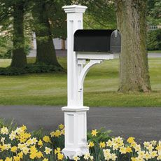 mailbox landscaping ideas | ... Out the Base | How to Build a Paneled Mailbox Post | This Old House