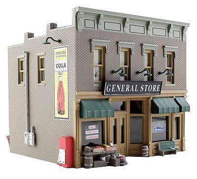 Blt/Rdy Lubener's General Store HO (woobr5021) Woodland HO Scale Model Railroad Buildings