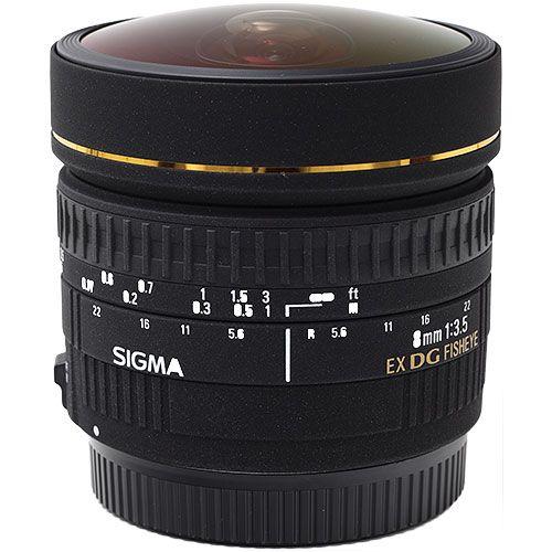 Lente Sigma 8mm f/3.5 EX DG Olho de Peixe Circular para Nikon