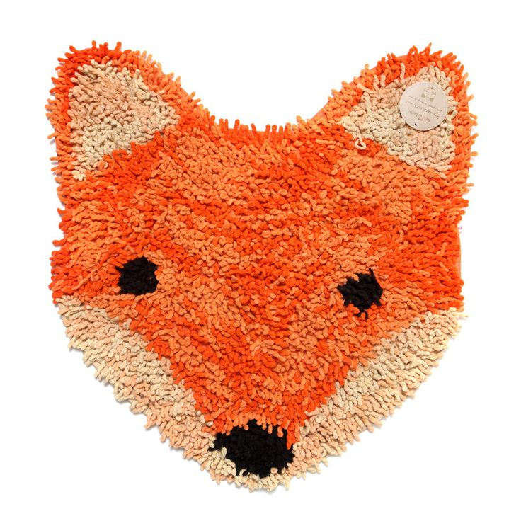 Rug . Small Rug / Bath Mat - Fox