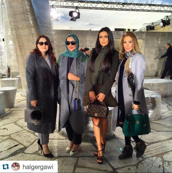 #Beautiful @halgergawi wearing #MATÉRIEL by @ladobokuchava printed coat for the #Loewe show at #ParisFashionWeek #PFW #GeorgianDesigners #GeorgianBrand #materieltbilisi