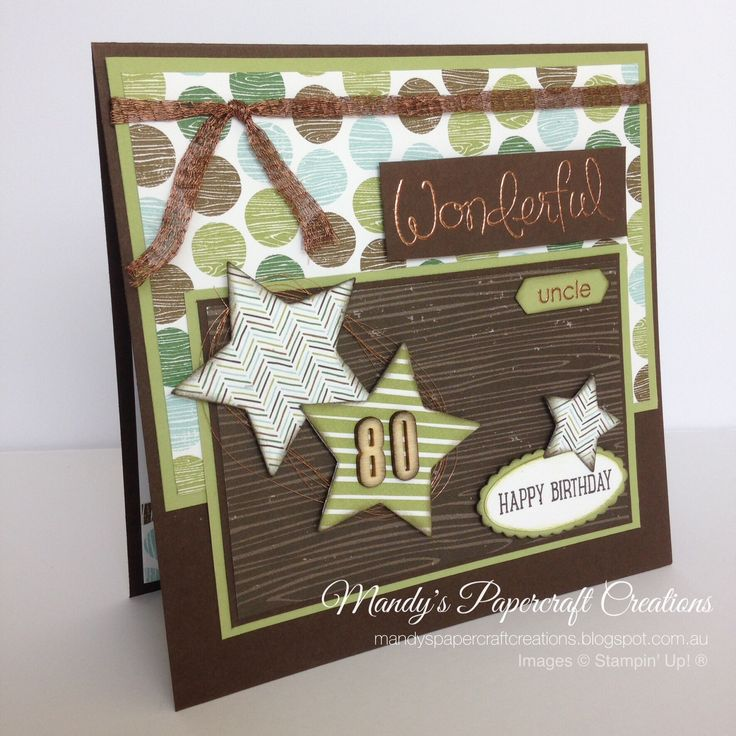 Wonderful Uncle card with Coffee Break DSP