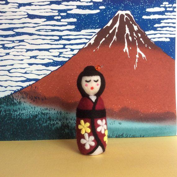 Naoko Handmade needle felted Japanese style by SweetPeaDolls