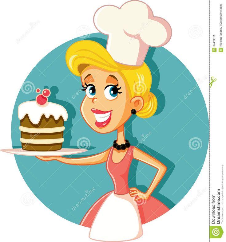 chef-de-repostería-de-sexo-femenino-baking-un-ejemplo-del-vector-de-la-torta-97439311.jpg (1213×1300)