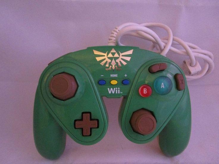 NINTENDO Wii U Controller Fight Pad LINK ZELDA Gamecube Style Smash Bros #Nintendo