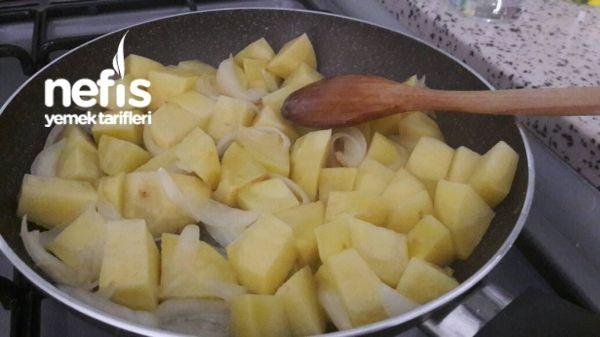 Sarimsakli,soganli,patates Tava