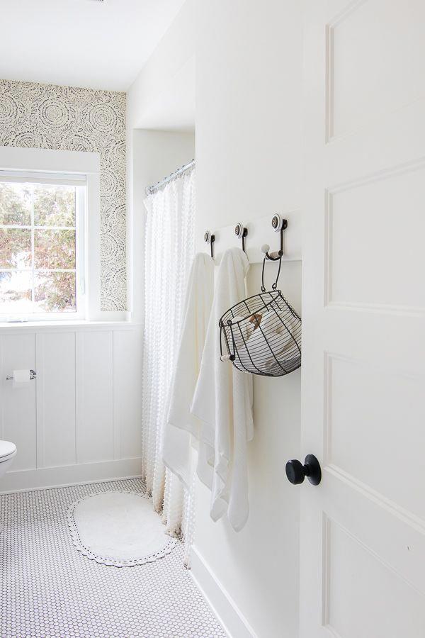 Blue And White Bathroom Design The Lilypad Cottage In 2020 White Bathroom Designs Modern Farmhouse Bathroom