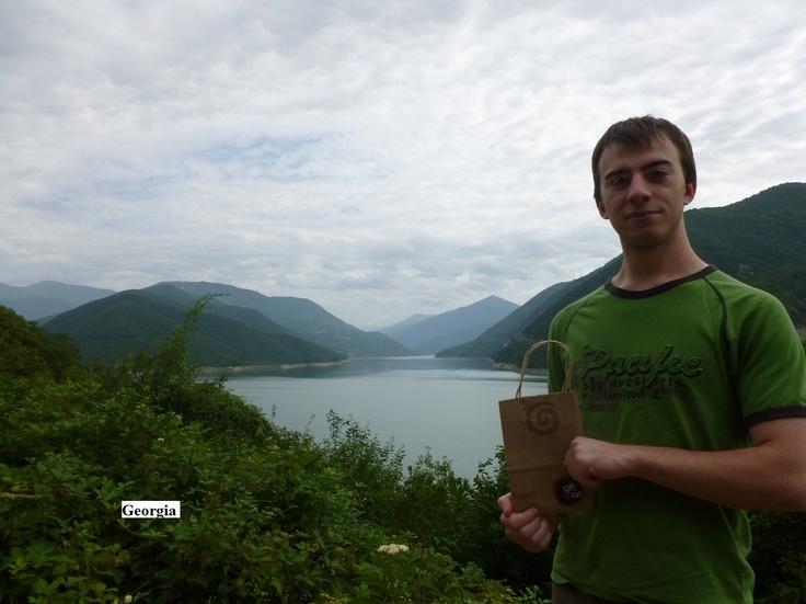 The Gift of Art bag traveled Georgia, Russia, summer 2012