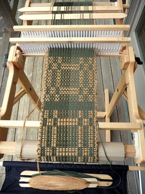 FarmNana's Fiber Frenzy: Rigid Heddle Summer Winter Weave!  Double weave project on the rigid heddle.