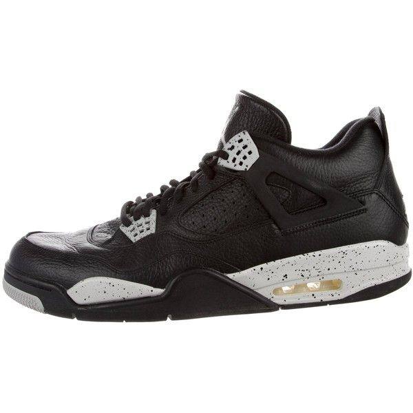 newest aeb0a 93584 Pre-owned Nike Air Jordan Retro 4 Oreo Sneakers ( 195) ❤ liked on Polyvore  featuring men s fashion, men s shoes, men s sneakers, black, mens ties, ...