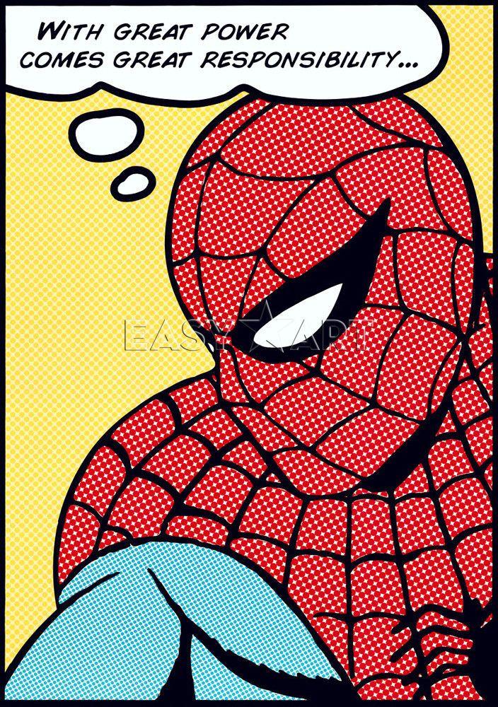 comic pop art spider man pop art art print by marvel comics comic book nerd pinterest. Black Bedroom Furniture Sets. Home Design Ideas