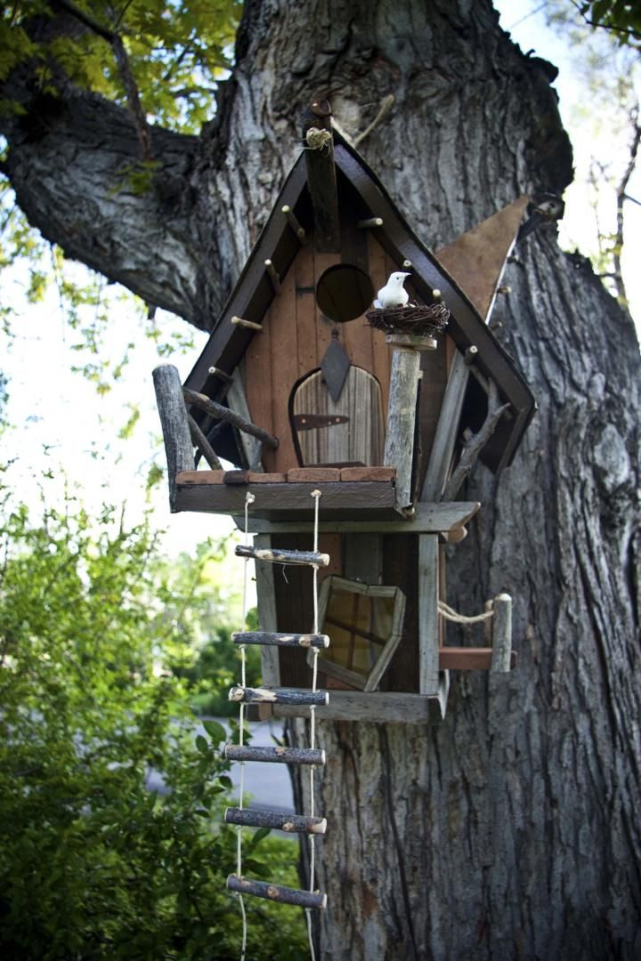 Birdhouses can be stylish addition to the back yard