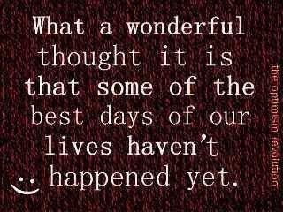 A Wonderful Thought...