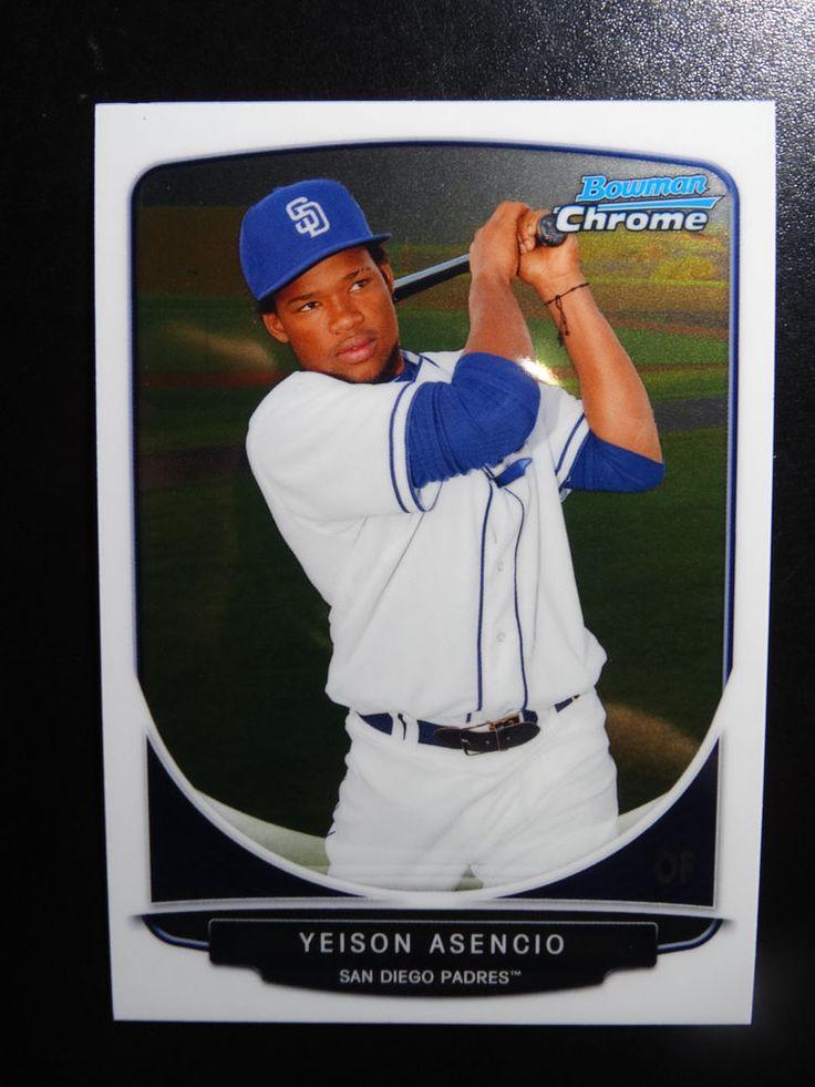 2013 Bowman Chrome #BCP189 Yeison Asencio San Diego Padres Baseball Card #BowmanChrome #SanDiegoPadres