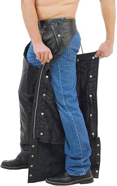 Pocket Motorcycle Chaps W Snap Out Quilted Lining C7130ZSP