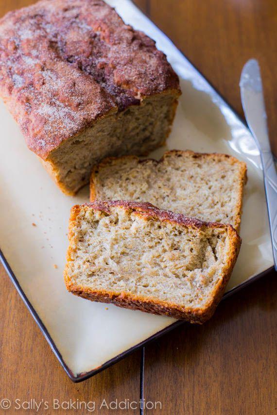 No-Knead Honey Oat Bread. Homemade and easy!  by sallysbakingaddiction.com