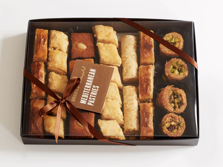 An irresistible selection of buttery, melt-in-the-mouth pastries crammed full of nuts.