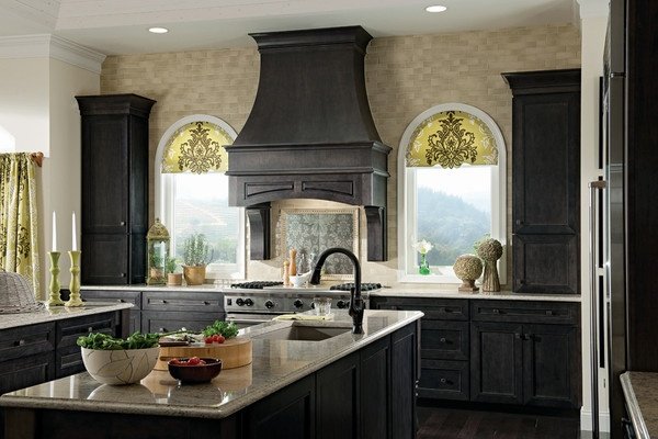 Slate Cabinet Finish from KraftMaid Cabinetry