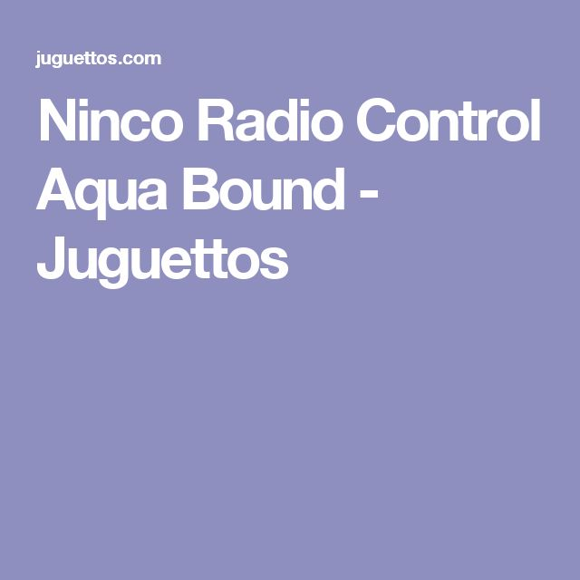 Ninco Radio Control Aqua Bound - Juguettos