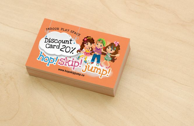 Promotional Discount Card Design by New Design Group for Hop Skip Jump