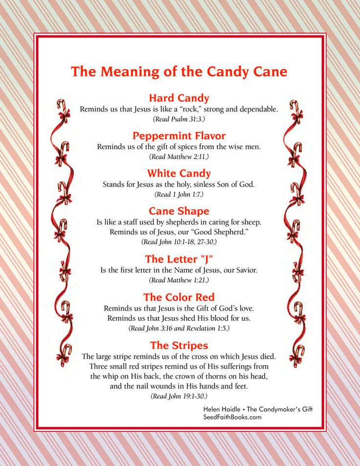 Meaning of the Candy Cane - FREE PDF  by Helen Haidle/ | Seed Faith Books