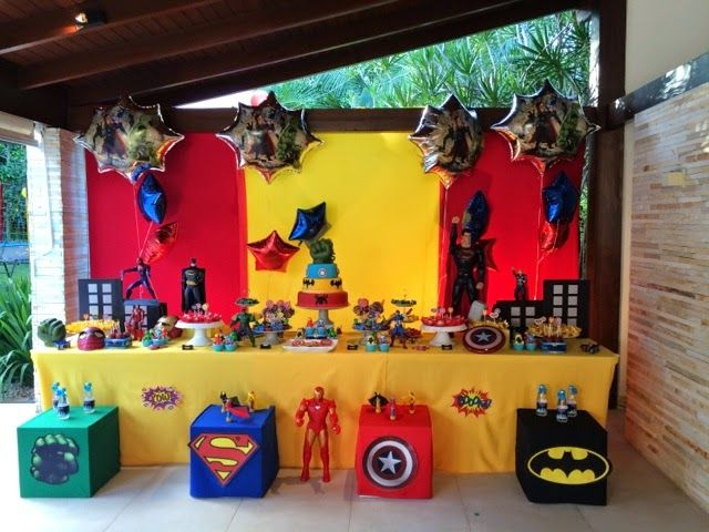 festa clean super heróis - Pesquisa Google