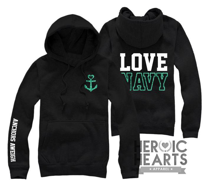 Love Navy Hoodie/Sweatshirt/Long Sleeve - Heroic Hearts Apparel