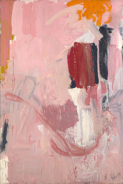 Mary Abbott. (b1921) is an American artist who belonged to the NY School of abstract expressionists.  1948, she became romantically involved with de Kooning and remained close until his death. She also enrolled in an experimental school called The Subject of the Artist. Through these associations Abbott moved into the heart of the New York avant-garde, becoming a member of the Artist's Club, where she was one of only a few female members along with Perle Fine and Elaine de Kooning.