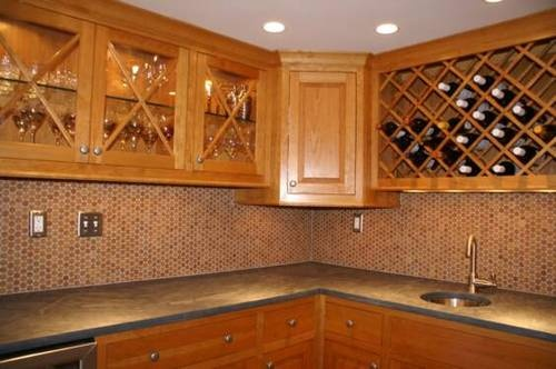 Cork Mosaic Tile For Floors Walls Bathroom Kitchen 1