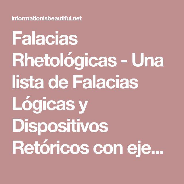 Falacias Rhetológicas - Una lista de Falacias Lógicas y Dispositivos Retóricos con ejemplos - La información es hermosa - Infografía