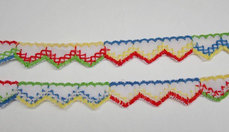 3 yards vintage trim ribbon, sewing notions, crafting, sewing supplies, destash, costume making, embellishment, garland trim. (R1) by LeVieuxGrenier on Etsy