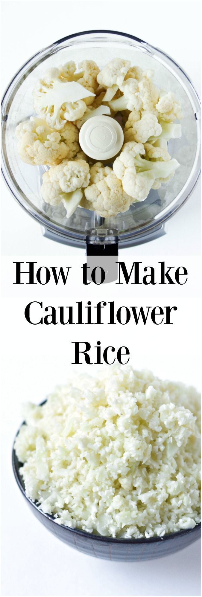 How to make and cook cauliflower rice. All you need is 10 minutes start to finish!