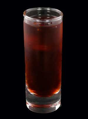 A delicious recipe for a Red Headed Slut Shooter, made with peach schnapps, Jagermeister and cranberry juice. Don't forget to share this shooter recipe with your friends and family on Facebook, Pinterest, or Twitter!
