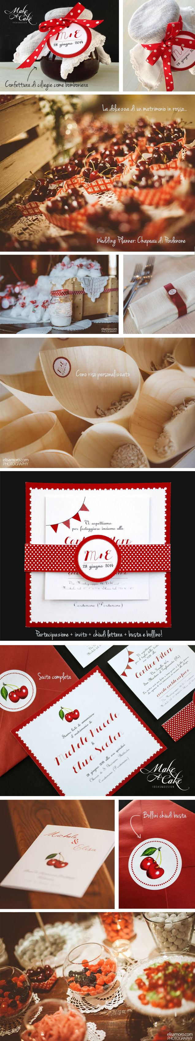 Matrimonio Ciliegie wedding cherry stationery invitation wedding favor customized you can find it at www.makeacake.it